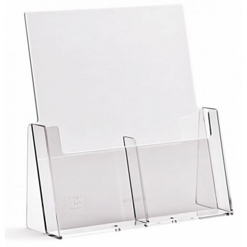 2C112 - 2 Compartment  Brochure Holder DL