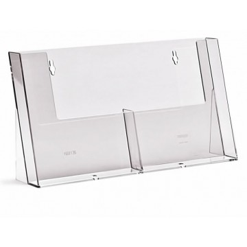 2C155H - 2 Pockets Counter Standing Brochure Holder A5