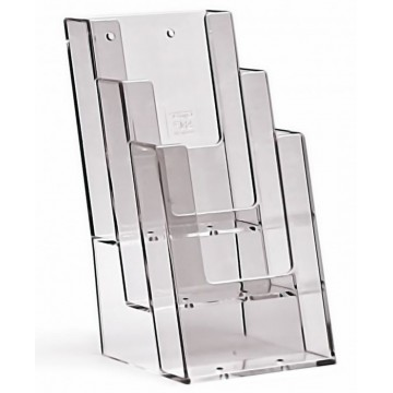3C104 - 3 Compartment  Brochure Holder DL