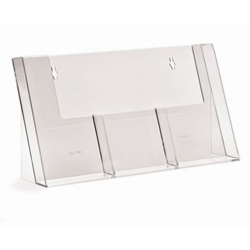 3C110H - 3 Pockets Counter Standing Brochure Holder DL