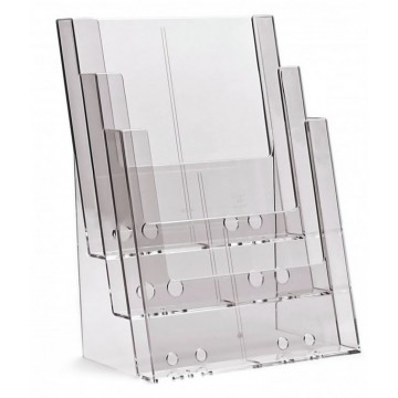 3C230X - 3 compartment  brochure holder A4
