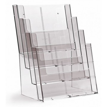4C230X - 4 Compartment Brochure Holder A4