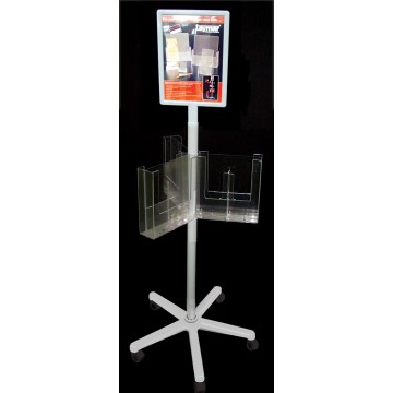 TRC1-2CA160 - 1 Tier Carousel Stand 6 Pockets A5