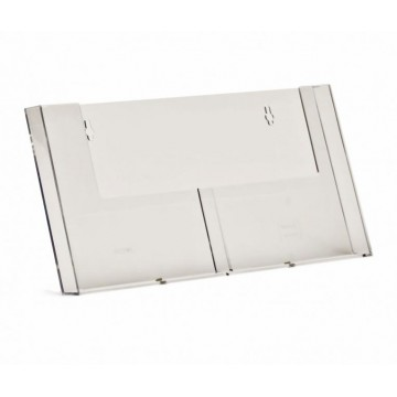 2W155H - 2 Compartment Wall Mount Brochure Holder A5