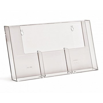 3W110H - 3 Compartment Wall Mount Brochure Holder DL