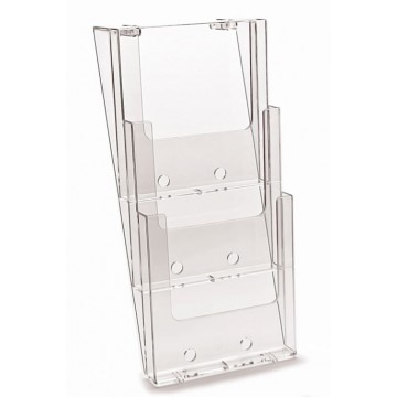 3W230 - Compartment Wall Mount Brochure Holder A4